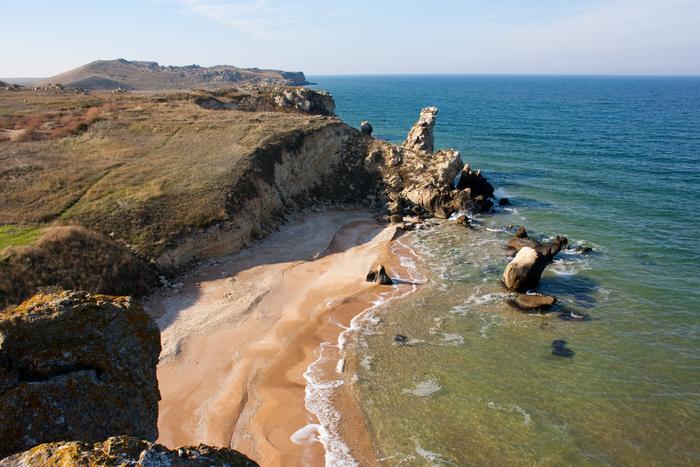 Пляжи на Керченском полуострове