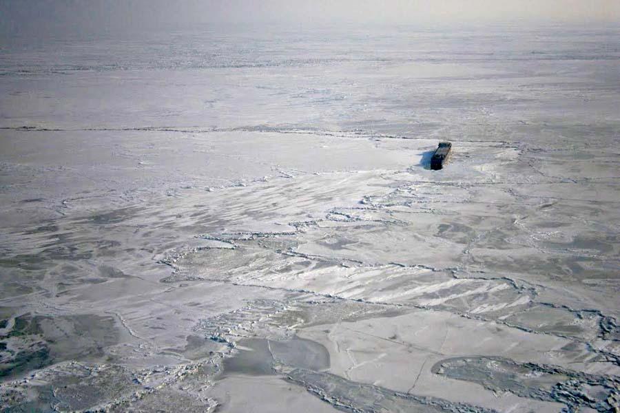Ледовые торосы на Азовском море