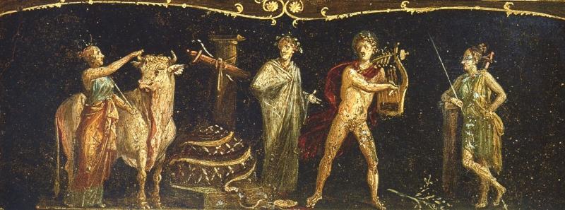 Помпеи — Casa dei Vettii — Ифигения в Тавриде