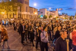 Факельное шествие в Керчи на 8 мая
