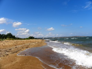 Безлюдные пляже на Аршинцевской косе