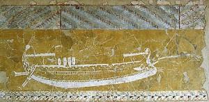 Рисунок на стенах храма в Нимфее