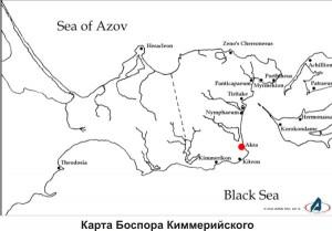 Античные города и рыбацкие порты Керченского пролива, карта