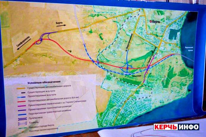 проект транспортных развязок вокруг Керчи после введения в строй Керченского моста