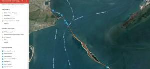 Интерактивная карта о ходе работ на строительстве Керченского моста