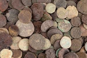 Монеты Боспорского царства из клада в Фанагории