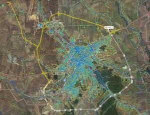 Схема СКАД Симферопольская кольцевая автодорога