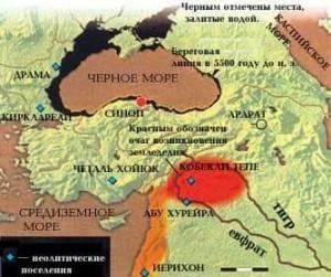 Азовское море мелководное, Керченский пролив узкий. Талые воды от Азовского моря проложили рвы к Черному.