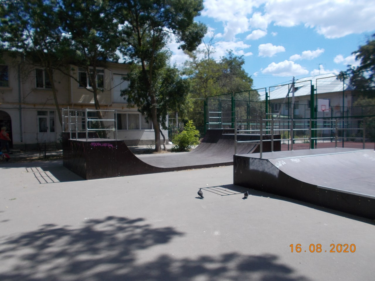 Новый скейт-парк в гарнизоне морской авиации Кача