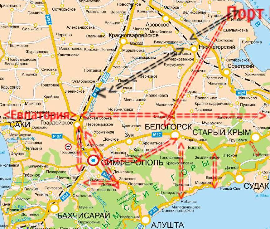 Схема ячеистой транспортной системы Крыма, автор Игорь Русанов, 2014 год
