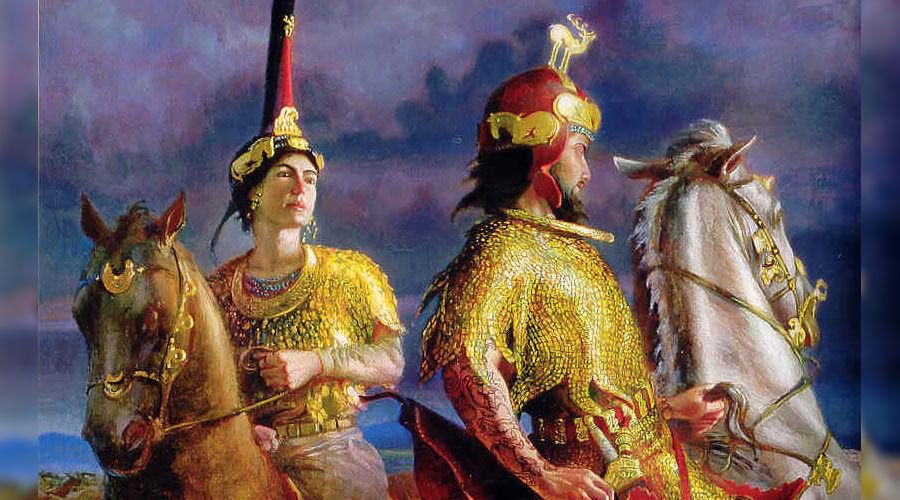 Свадебная экспедиция из Северного Причерноморья в Индию. Курганы Пазырык. Как бы женщина скорее всего третий пол, так было принято у скифов. В парике.