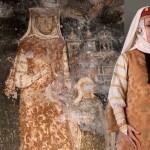 Реконструкция одежды высшей византийской аристократии по церковным фрескам