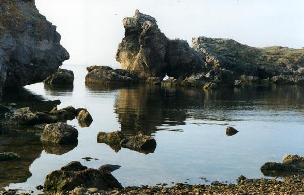 карманный пляж мыса Казантип