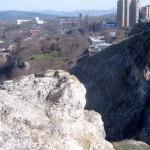 Троссовая переправа на Петровский скалах. Симферополь