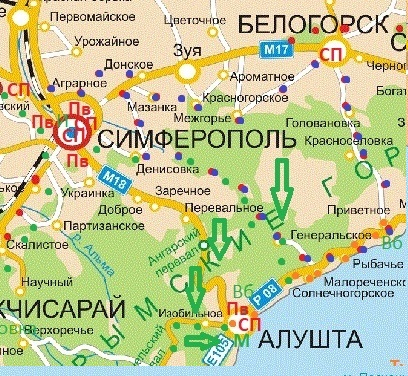 Маршрут по юго-восточному Крыму можно начинать сразу от аэропорта в Симферополе, но лучше расположиться в Алуште. Море плюс горы!