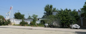 Героевка. База отдыха Коралл, общий вид на въезд с шоссе из Керчи