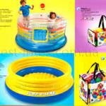 фирма Intex выпускает несколько моделей батутов-бассейнов. В желто-синем можно плавать по морю как на лодочке. Использовать батут для высоких прыжков в воду