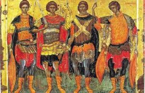 Четыре святых воина Восточно-Римской империи