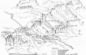 Рисованная объемная карта плато Ай-Петри