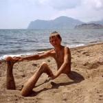коктебель французский пляж играем с песком